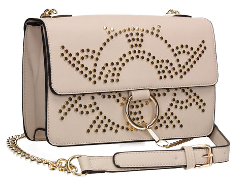 Swanky Swans Silvia Clutch Bag Beige Perfect for Back To School!