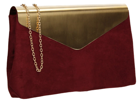 Ariana Clutch Bag Burgundy-Clutch Bag-SWANKYSWANS