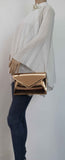 SWANKYSWANS Lenny Shiny Clutch Bag Champagne Cute Cheap Clutch Bag For Weddings School and Work