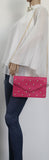 SWANKYSWANS Emily Pearl Clutch Bag Fuschia Cute Cheap Clutch Bag For Weddings School and Work