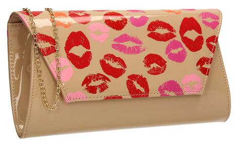 vicky-kiss-print-clutch-bag-nude