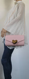 SWANKYSWANS Corrie Heart Clutch Bag Pink Cute Cheap Clutch Bag For Weddings School and Work