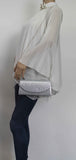 SWANKYSWANS Rita Diamante Clutch Bag Silver Cute Cheap Clutch Bag For Weddings School and Work