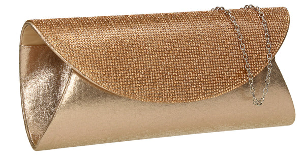 SWANKYSWANS Merylin Clutch Bag Champagne Cute Cheap Clutch Bag For Weddings School and Work