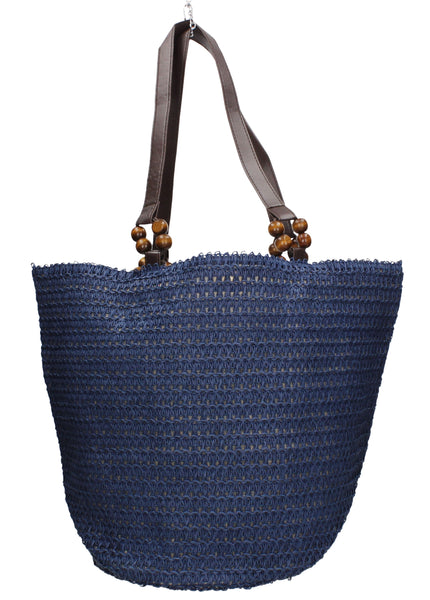 Swanky Swans Soft Bucket Style Blue Beach Tote Bag Summer HandbagPerfect for School, Weddings, Day out!