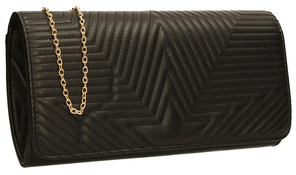 SWANKYSWANS Michelle Clutch Bag Black Cute Cheap Clutch Bag For Weddings School and Work