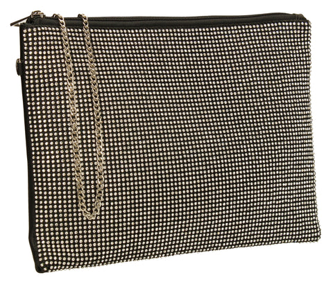 Marla Slim Clutch Bag Black-Clutch Bag-SWANKYSWANS