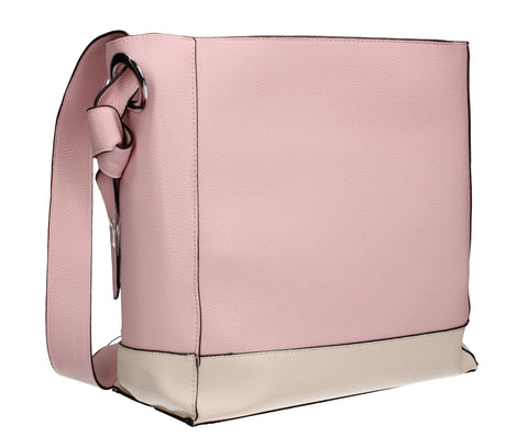 Swanky Swans Leanne Handbag Pink & BeigePerfect for School, Weddings, Day out!