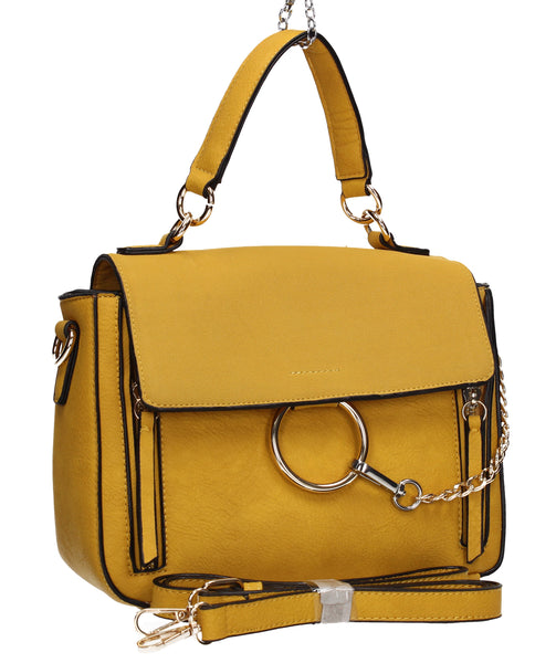Swanky Swans Aurelia Ring Handbag YellowPerfect for School, Weddings, Day out!