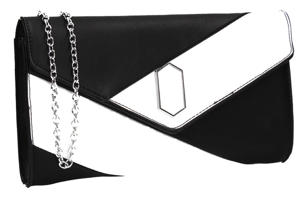SWANKYSWANS Sara Clutch Bag Black Cute Cheap Clutch Bag For Weddings School and Work