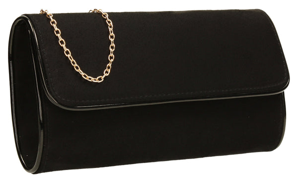 SWANKYSWANS Jamie Clutch Bag Black Cute Cheap Clutch Bag For Weddings School and Work