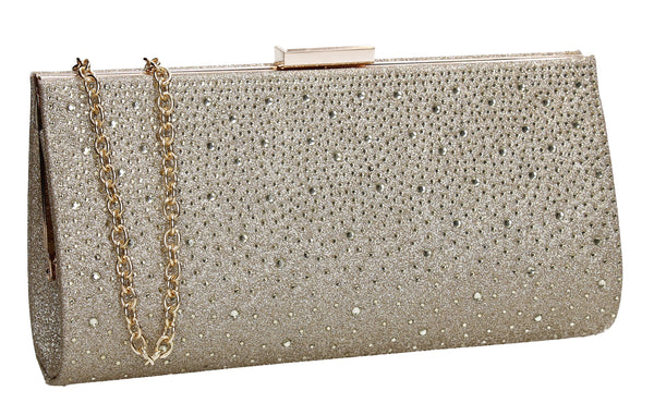 SWANKYSWANS Frances Clutch Bag Gold
