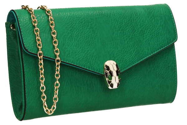 SWANKYSWANS Carla Clutch Bag Green Cute Cheap Clutch Bag For Weddings School and Work