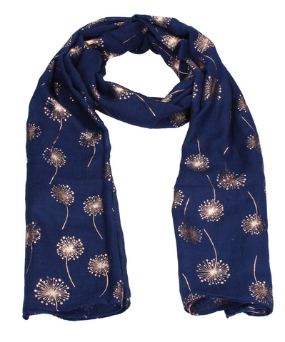 Swanky Swans Macy Rose Gold Dandelion Scarf Navy Beautiful school Summer Winter Scarf