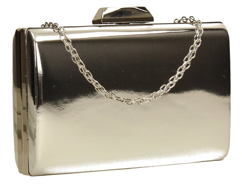 SWANKYSWANS Arizona Metallic Clutch Bag Silver Cute Cheap Clutch Bag For Weddings School and Work