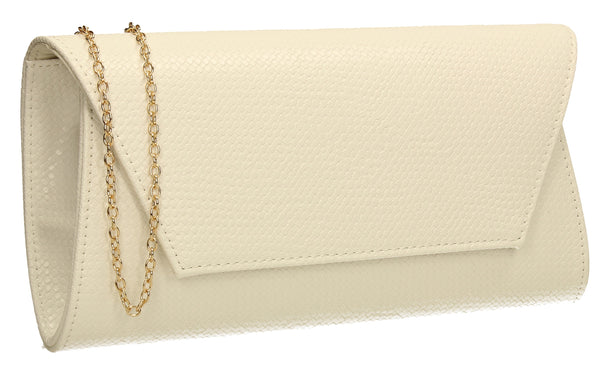 SWANKYSWANS Merci Micro Clutch Bag White Cute Cheap Clutch Bag For Weddings School and Work
