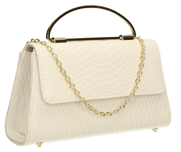 SWANKYSWANS Laura Clutch Bag White Cute Cheap Clutch Bag For Weddings School and Work