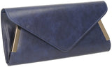 SWANKYSWANS Laurie Clutch Bag Navy Cute Cheap Clutch Bag For Weddings School and Work