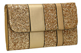 Gigi Glitter Clutch Bag Gold-Clutch Bag-SWANKYSWANS