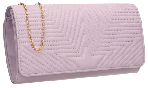 SWANKYSWANS Michelle Clutch Bag Lilac Cute Cheap Clutch Bag For Weddings School and Work