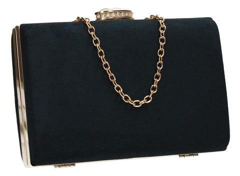 Surrey Clutch Bag Navy-Clutch Bag-SWANKYSWANS