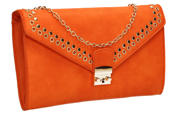 Beni Clutch Bag Orange-Clutch Bag-SWANKYSWANS