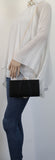 SWANKYSWANS Katy Satin Clutch Bag Black Cute Cheap Clutch Bag For Weddings School and Work