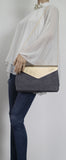 SWANKYSWANS Ariana Clutch Bag Grey Cute Cheap Clutch Bag For Weddings School and Work