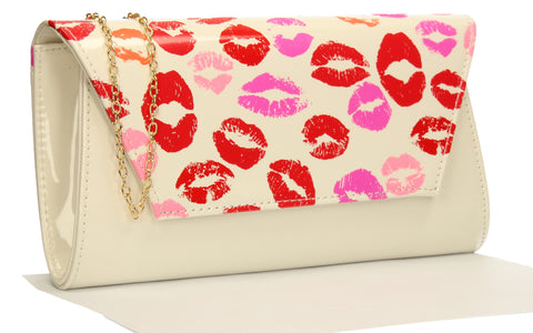 vicky-kiss-print-clutch-bag-white