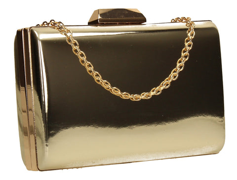 SWANKYSWANS Arizona Metallic Clutch Bag Gold Cute Cheap Clutch Bag For Weddings School and Work