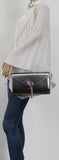 SWANKYSWANS Dana Shiny Clutch Bag Grey Cute Cheap Clutch Bag For Weddings School and Work