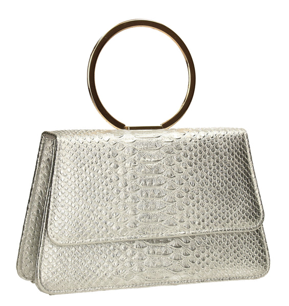 SWANKYSWANS Piper Clutch Bag Silver Cute Cheap Clutch Bag For Weddings School and Work