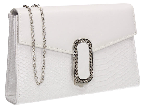 SWANKYSWANS Vanessa Clutch Bag White Cute Cheap Clutch Bag For Weddings School and Work