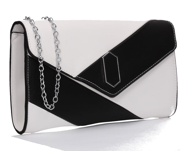 Sara Clutch Bag White