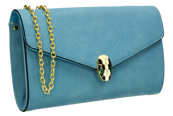 SWANKYSWANS Carla Clutch Bag Blue Cute Cheap Clutch Bag For Weddings School and Work