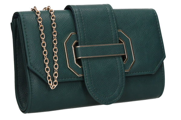 SWANKYSWANS Nora Fancy Clutch Bag Green Cute Cheap Clutch Bag For Weddings School and Work