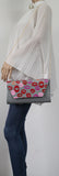 Vicky Kiss Print Clutch Bag Grey