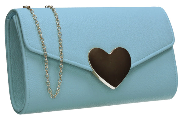 SWANKYSWANS Corrie Heart Clutch Bag Mint Cute Cheap Clutch Bag For Weddings School and Work