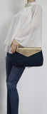 SWANKYSWANS Ariana Clutch Bag Navy Cute Cheap Clutch Bag For Weddings School and Work