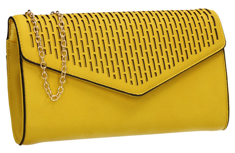 SWANKYSWANS Andrea Clutch Bag Yellow Cute Cheap Clutch Bag For Weddings School and Work