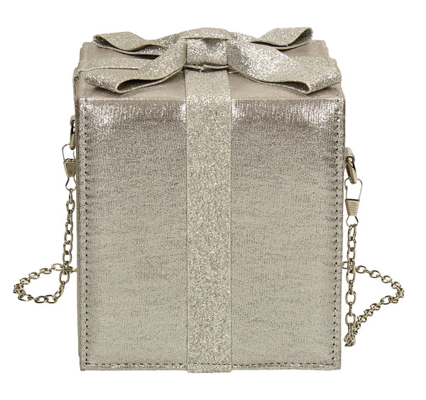 SWANKYSWANS Sara Clutch Bag Silver Cute Cheap Clutch Bag For Weddings School and Work