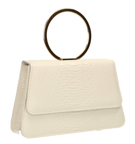 SWANKYSWANS Piper Clutch Bag White Cute Cheap Clutch Bag For Weddings School and Work