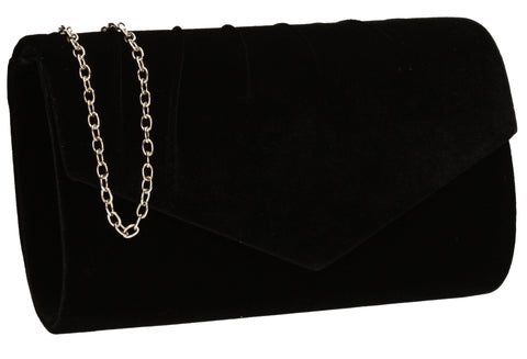 SWANKYSWANS Jess Clutch Bag Black Cute Cheap Clutch Bag For Weddings School and Work