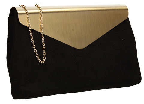 Ariana Clutch Bag Black-Clutch Bag-SWANKYSWANS