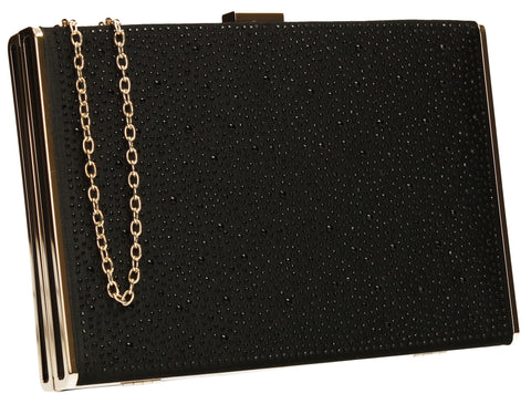 Shanina Clutch Bag Black-Clutch Bag-SWANKYSWANS