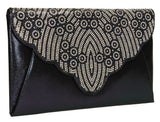 SWANKYSWANS Selina Clutch Bag Navy Cute Cheap Clutch Bag For Weddings School and Work