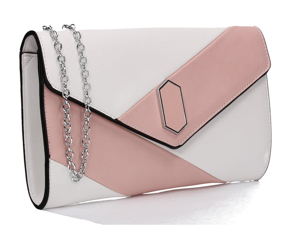 SWANKYSWANS Sara Clutch Bag Pink Cute Cheap Clutch Bag For Weddings School and Work