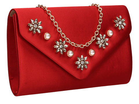 Red Clutch Bag Cute Prom Summer Outfit - Leila Clutch Bag Red