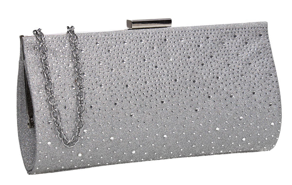 SWANKYSWANS Frances Clutch Bag Silver