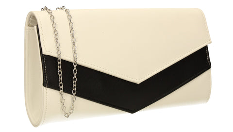 SWANKYSWANS Bali Envelope Clutch Bag White Cute Cheap Clutch Bag For Weddings School and Work